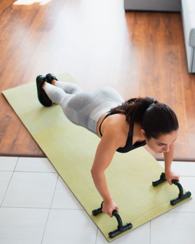 Performing Plank Exercise